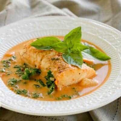 Pressure Cooker Haddock in Creamy Tomato Soup