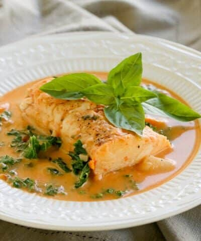 Pressure Cooker Haddock Tomato Soup with Potatoes, Carrots and Kale