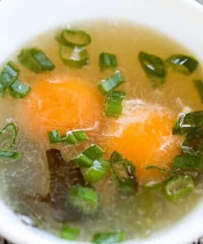 Delicious Egg Yolk Soup (Low-Carb, Paleo, WAPF}