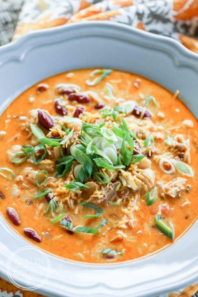 {Pressure Cooker} Hatch Pepper Chicken Chili - Grain & Gluten-Free