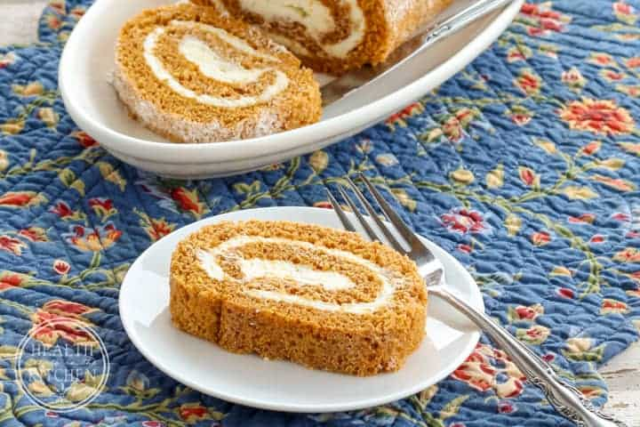 Pumpkin Roll with Cream Cheese Filling {Grain-Free, Gluten-Free & Primal}