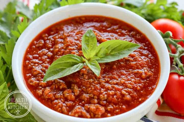 Roasted Tomato Meat Sauce