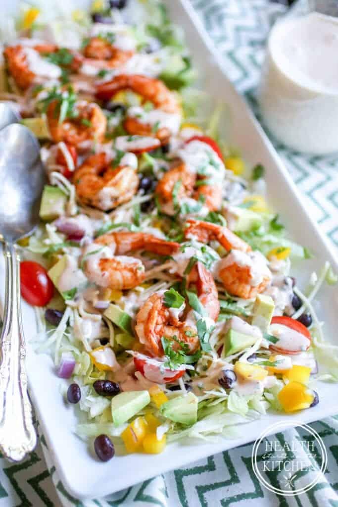 Southwestern Shrimp Salad from Salads, Without Grain cookbook