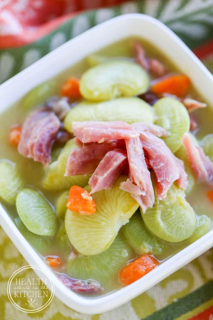 {Pressure Cooker} Lima Bean & Ham Soup - Grain & Gluten Free