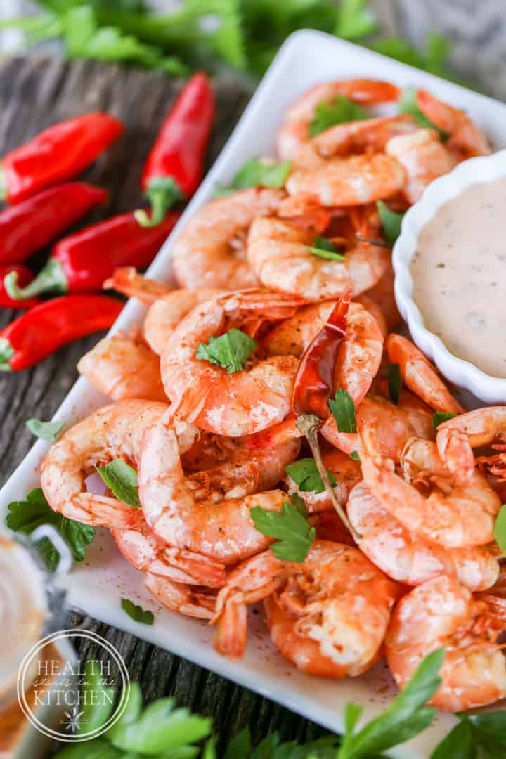 Spicy Peel and Eat Shrimp with Chipotle Remoulade
