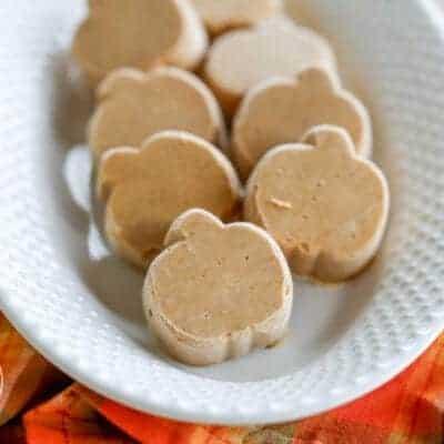 Maple Pumpkin Pie Fudge {Paleo, Low-Carb & Vegan}