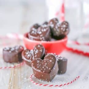 {Valentine's Day} Dark Chocolate Sea Salt Truffles
