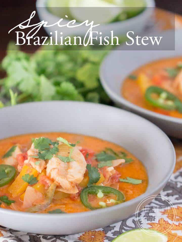 Spicy Brazilian Fish Stew {Paleo, Low-Carb & Keto}