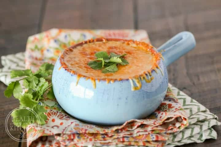 30 Minute Cheesy Hatch Chile Soup {Primal & Low-Carb}