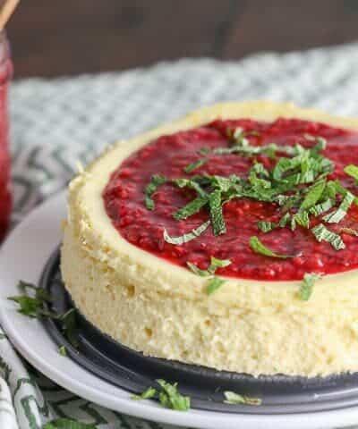 Pressure Cooker Lemon Ricotta Cheesecake {Primal, Low-Carb & Keto}