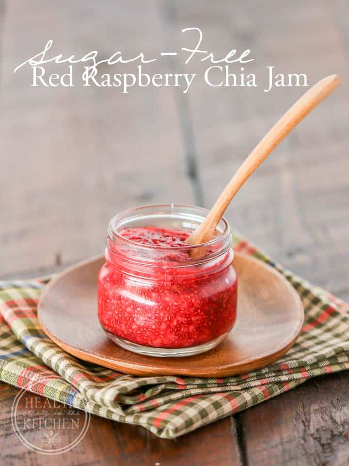 sugar free red raspberry chia jam sugar free red raspberry