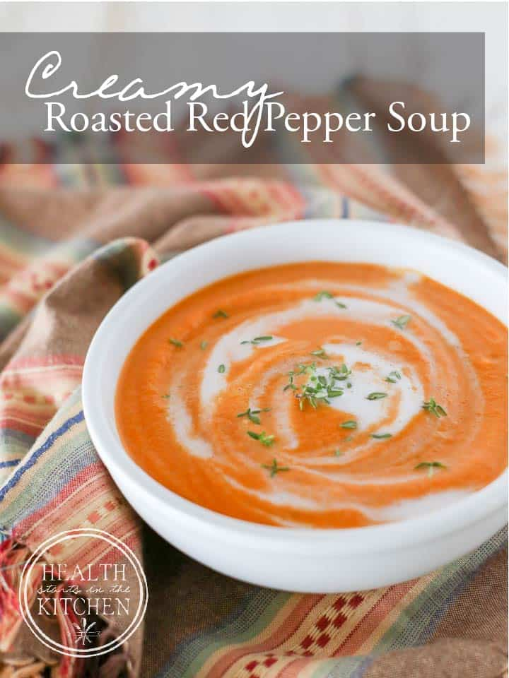 Roasted Cauliflower And Red Pepper Soup Recipe — Dishmaps