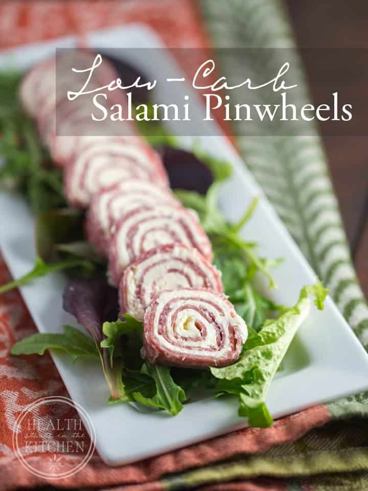 Salami & Cream Cheese Pinwheels {Primal, Low-Carb & Keto}