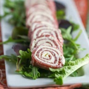 Salami & Cream Cheese Pinwheels {Primal, Low-Carb & Keto}