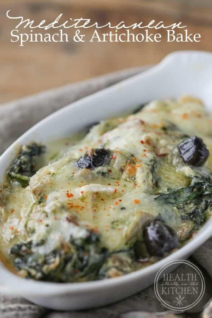 Mediterranean Spinach & Artichoke Bake {Low-Carb, Keto & Primal}