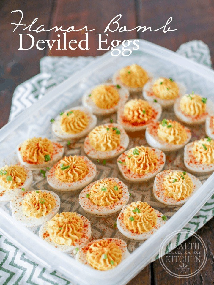 Flavor BOMB Deviled Eggs {Paleo, Low-Carb & Vegetarian}