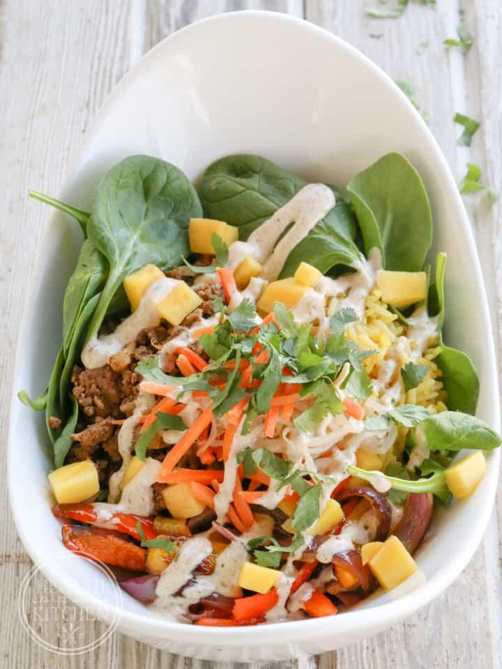 Bombay Bowl with Tiki Sauce {Gluten Free}