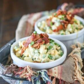 Creamy Bacon Pea Salad {Low Carb}