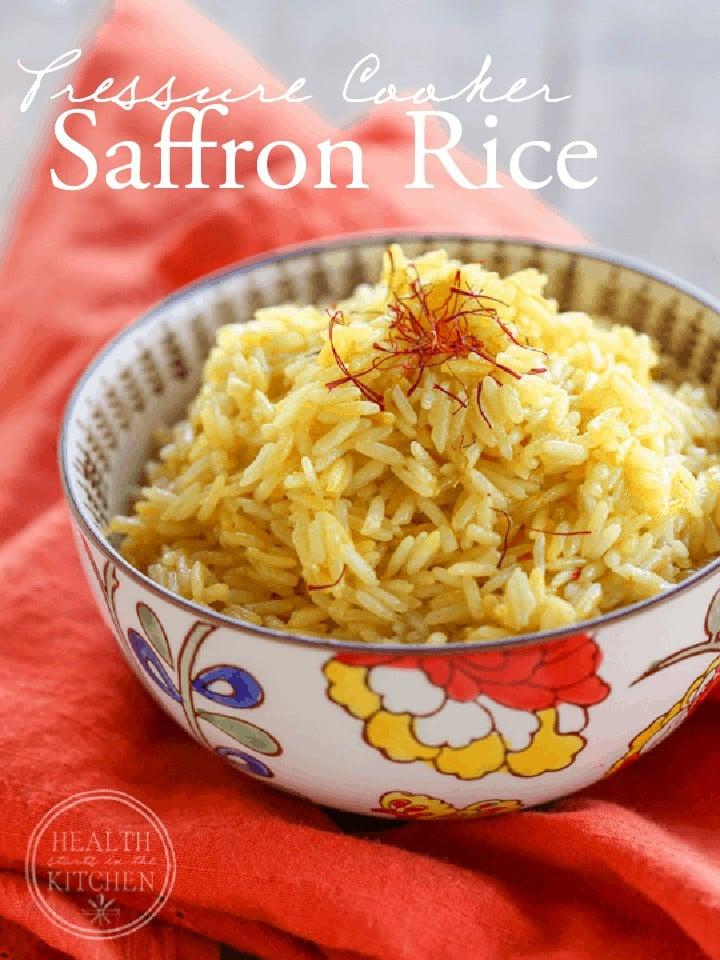 5 Minute {Pressure Cooker} Saffron Rice