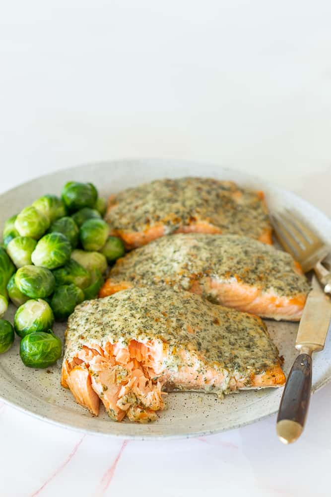 Healthy and delicious can't get much easier, this Keto Garlic Parmesan Salmon will become a new family favorite meal. And in less than 30 minutes from the freezer it's time to eat!