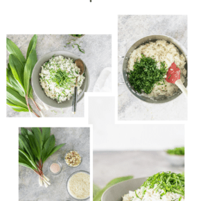 Collage Pin of Ramp Rice Recipe images