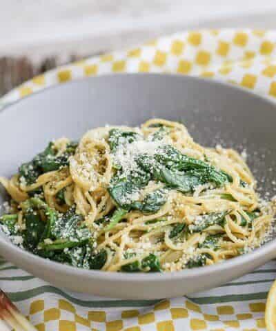 Ramp and Anchovy Carbonara Pasta
