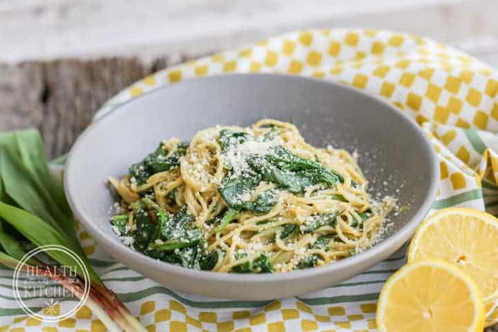 Ramp and Anchovy Carbonara Pasta {Gluten-Free} - Health Starts in the ...