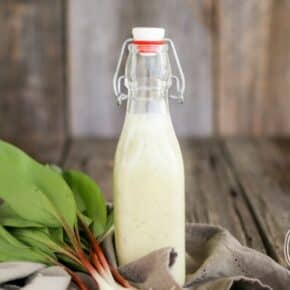 Sweet Wild Ramp Dressing by Health Starts in the Kitchen