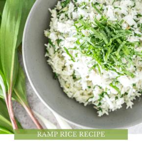 Wild Ramp Rice Recipe