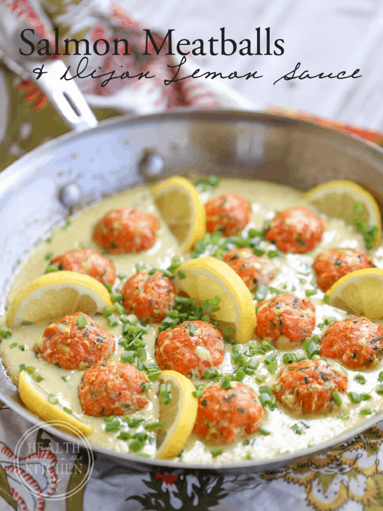 Salmon Meatballs with Dijon Lemon Sauce {Low-Carb, Keto & Grain-Free}