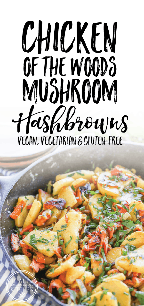 Chicken of the Woods Mushroom Hashbrowns {Vegan, Vegetarian & Gluten-Free}