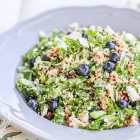 Chopped Blueberry Kale Quinoa Salad