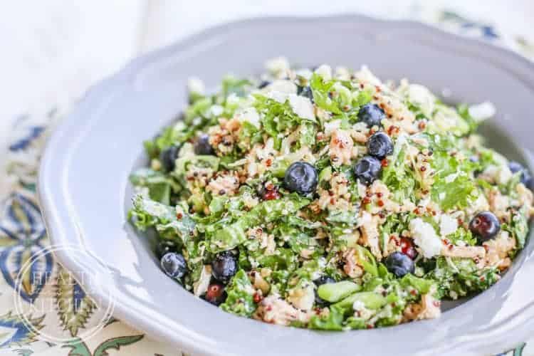 Chopped Blueberry Kale Quinoa Salad