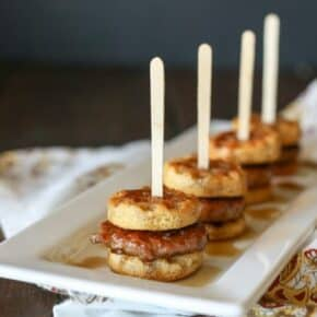 Gluten-Free Sausage Waffle Sliders {Paleo}
