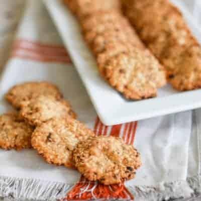 Gluten-Free Sun Dried Tomato and Feta Crackers
