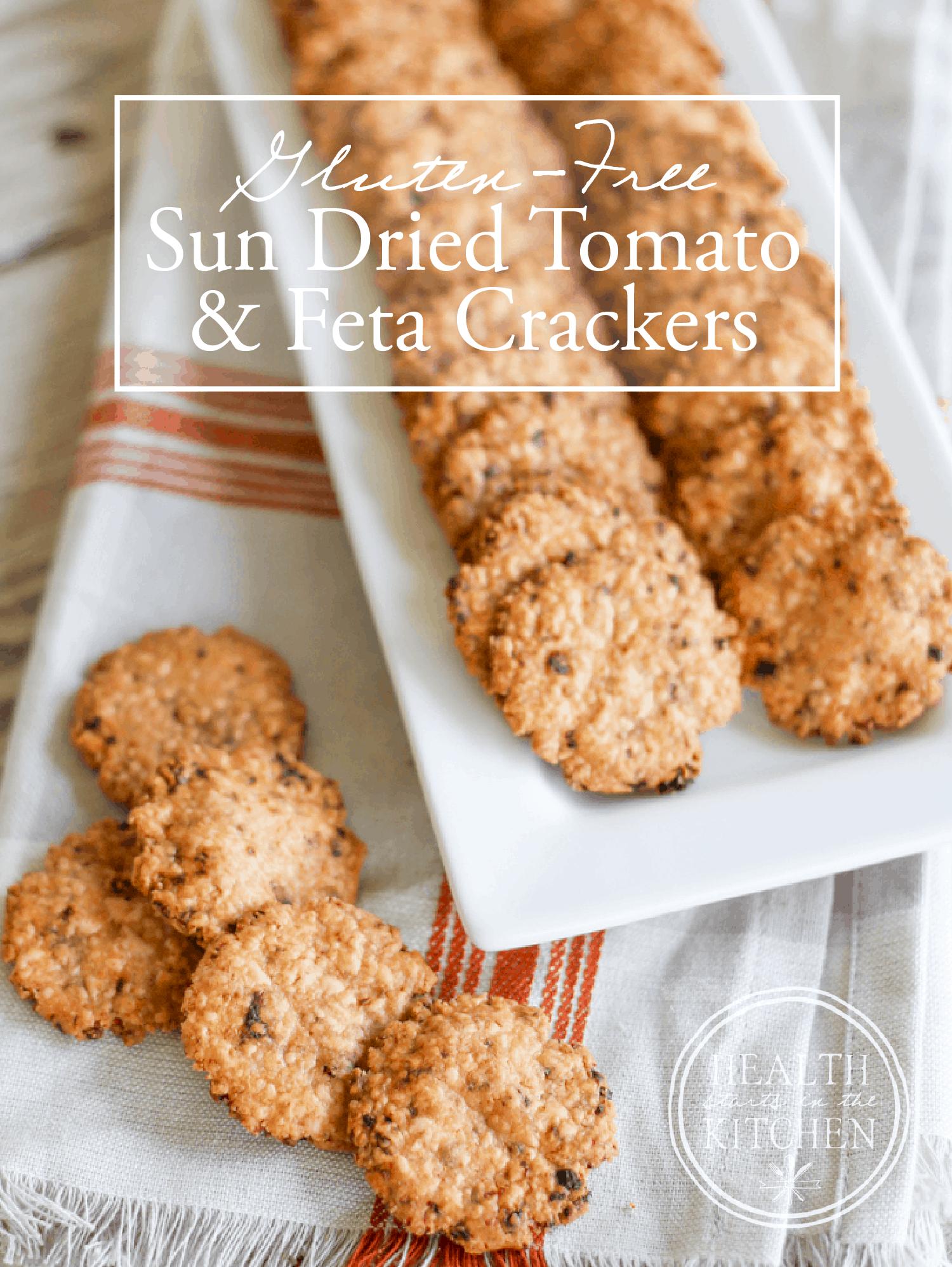 {Gluten-Free} Sun Dried Tomato and Feta Crackers