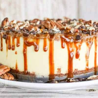 Pressure Cooker Turtle Cheesecake {Keto & Low-Carb}