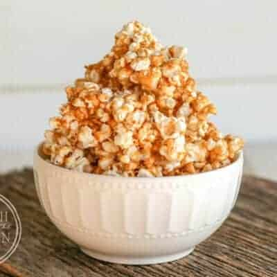 Almost Healthy Marshmallow Salted Caramel Popcorn