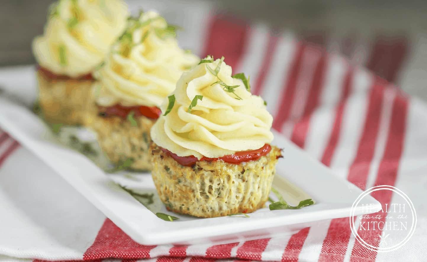 Gluten-Free Turkey Meatloaf Cupcakes