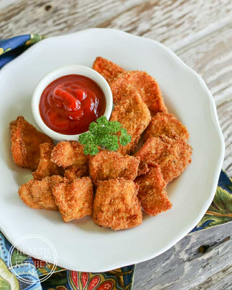 Vegetarian Chicken Nuggets (using Chicken of the Woods Mushrooms)