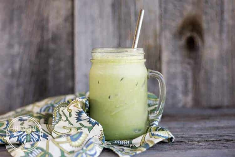 Protein Packed, Iced Matcha Green Tea Latte