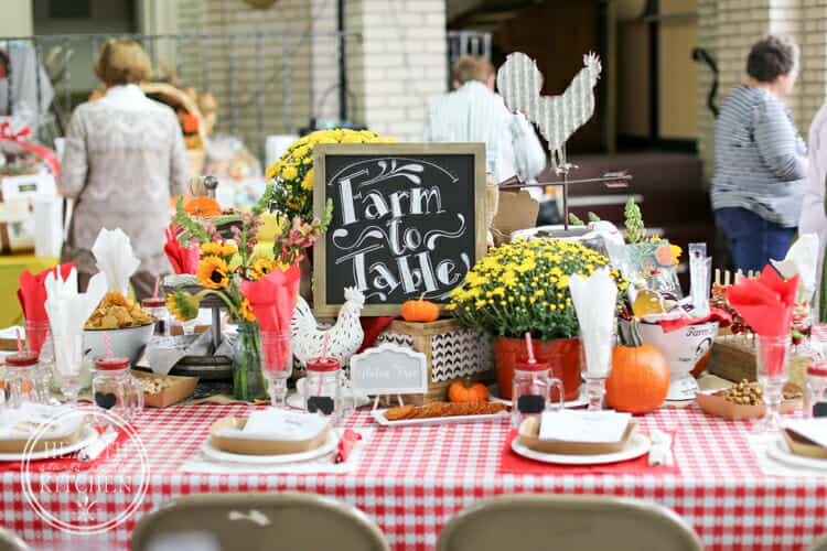 Calendar Party - Farm to Table Theme
