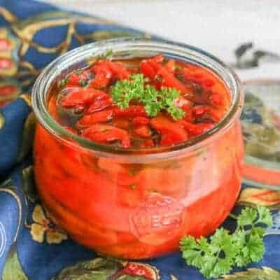 Pickled Roasted Red Peppers