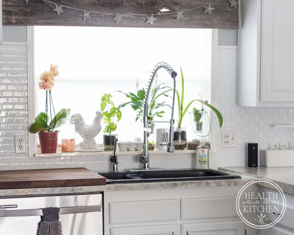 Holiday Kitchen Makeover ($500 Budget) AFTER - Adhesive Tile Sheets