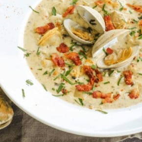 5-Minute Pressure Cooker Clam Chowder {Low-Carb, Keto & Primal, Friendly}