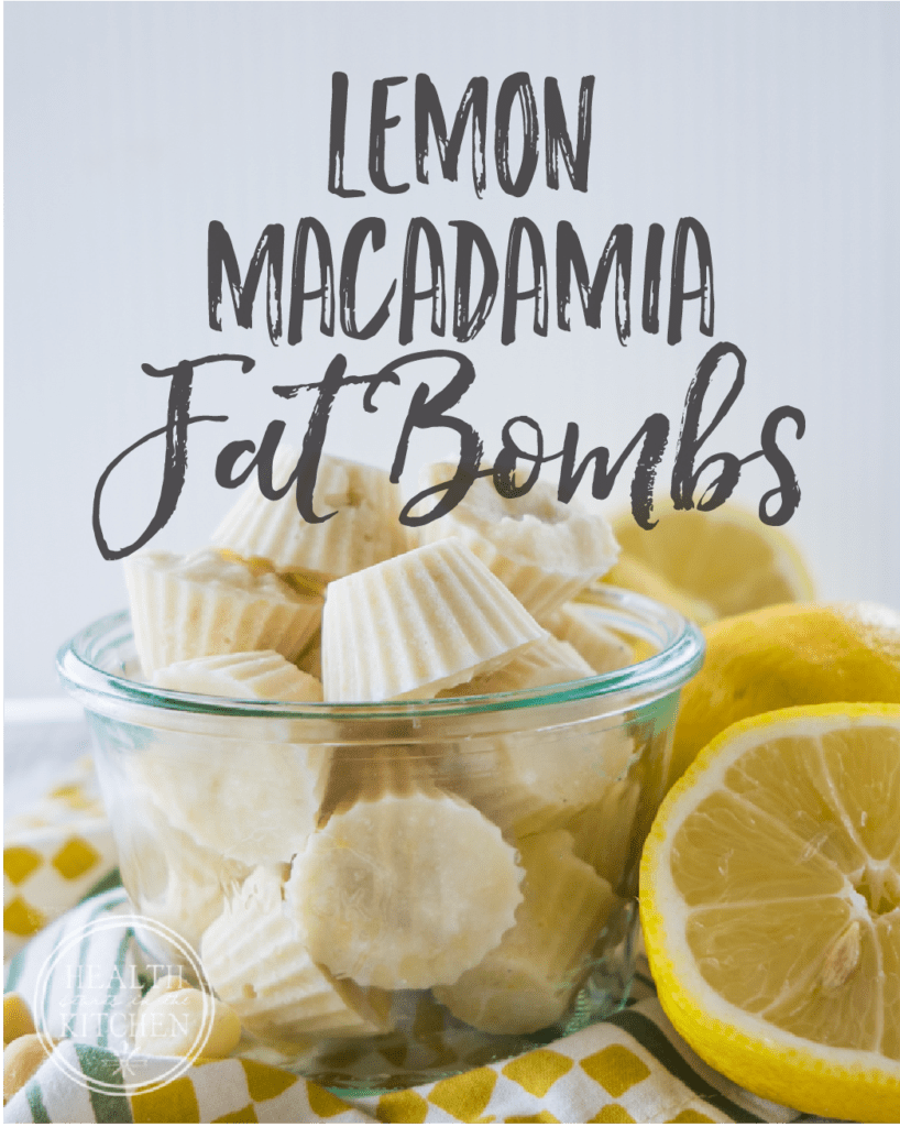 Lemon Macadamia Fat Bombs; Low-Carb & Keto