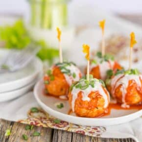 Cheese Stuffed Buffalo Turkey Meatballs {Low-Carb & Primal}