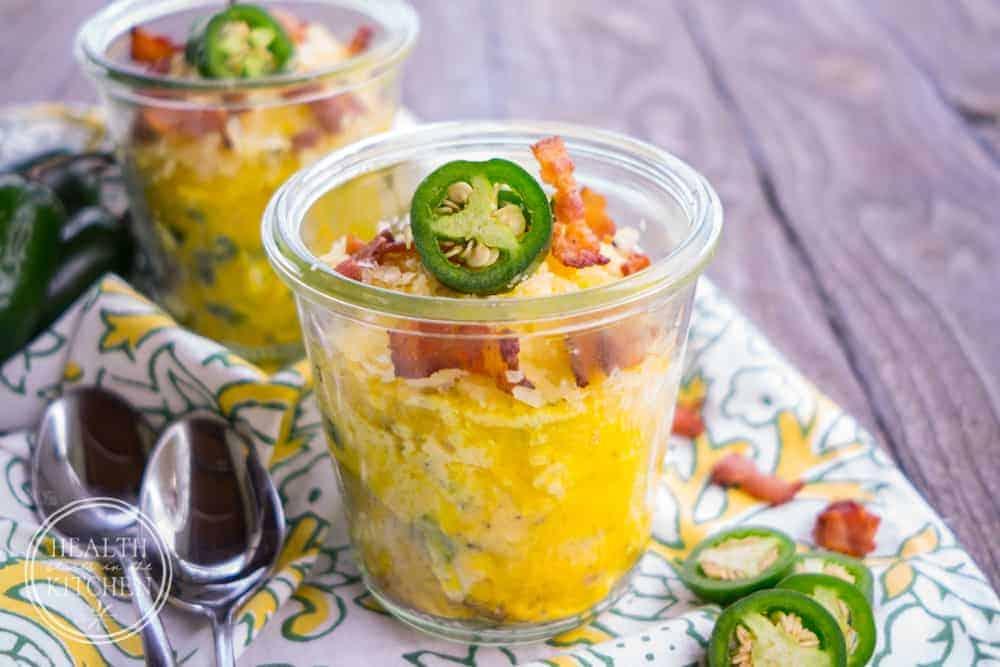 Pressure Cooker Jalapeno Popper Omelets in a Jar {Low-Carb, Keto & Primal}