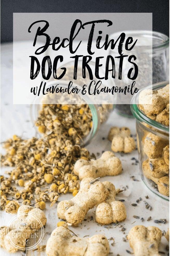Lavender Chamomile Bedtime Dog Biscuits {Grain-Free}