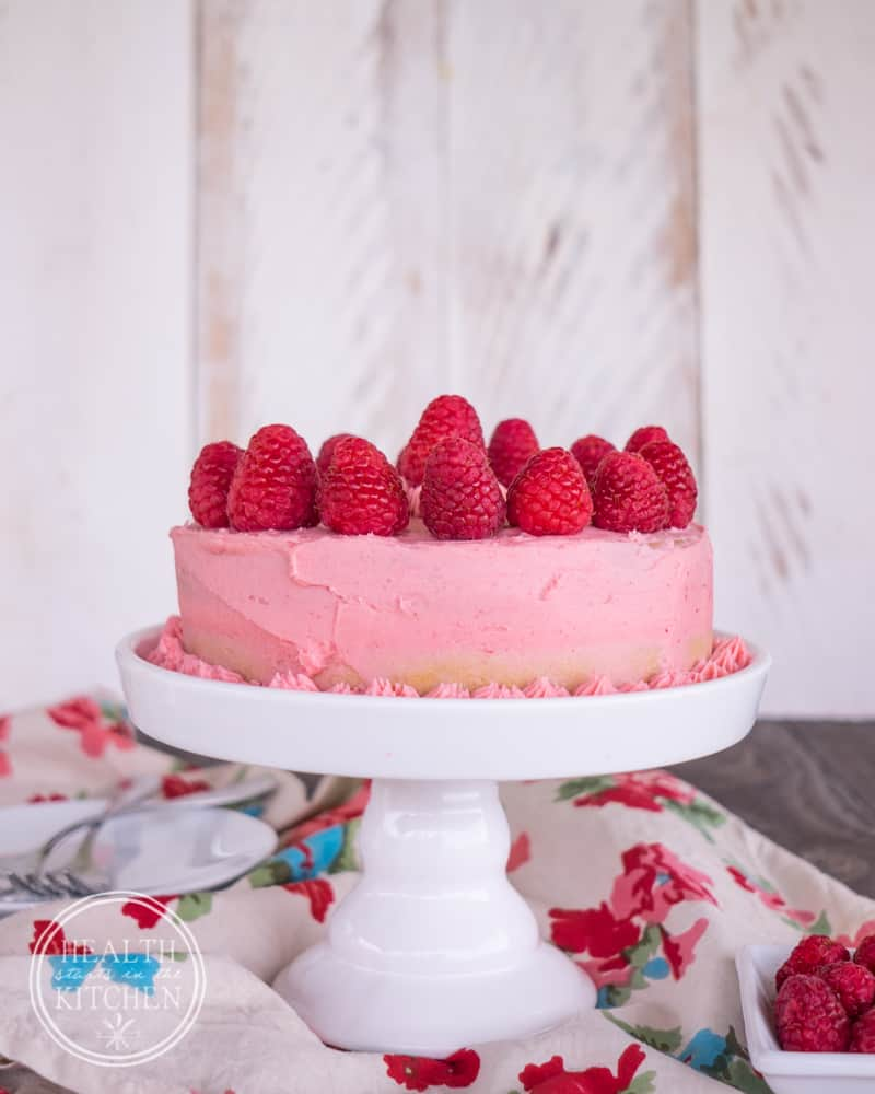 Pressure Cooker Low Carb Cake with Raspberry Buttercream {Grain-Free, Gluten-Free, Paleo & Primal}